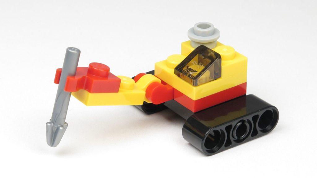 LEGO® City 60201 Adventskalender 2018 - Bagger mit Erdbohrer, Vorderseite | ©2018 Brickzeit