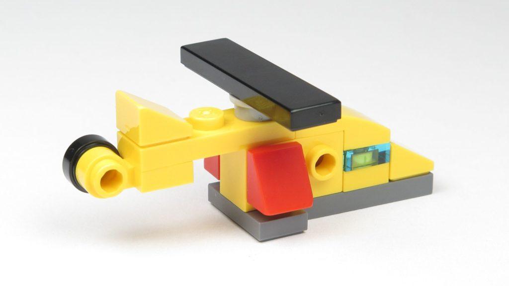 LEGO® City 60201 Adventskalender 2018 - Hubschrauber, hinten rechts | ©2018 Brickzeit