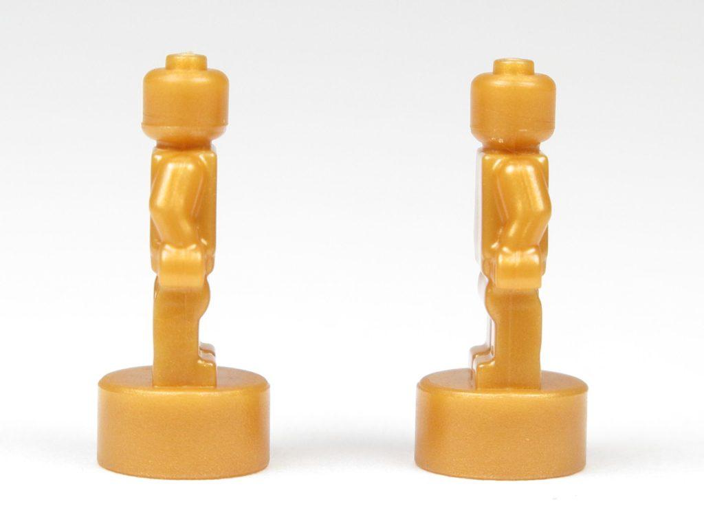 LEGO® City 60201 Adventskalender 2018 - Goldfarbene Microfiguren für Weihnachtsbaum, linke & rechte Seite | ©2018 Brickzeit