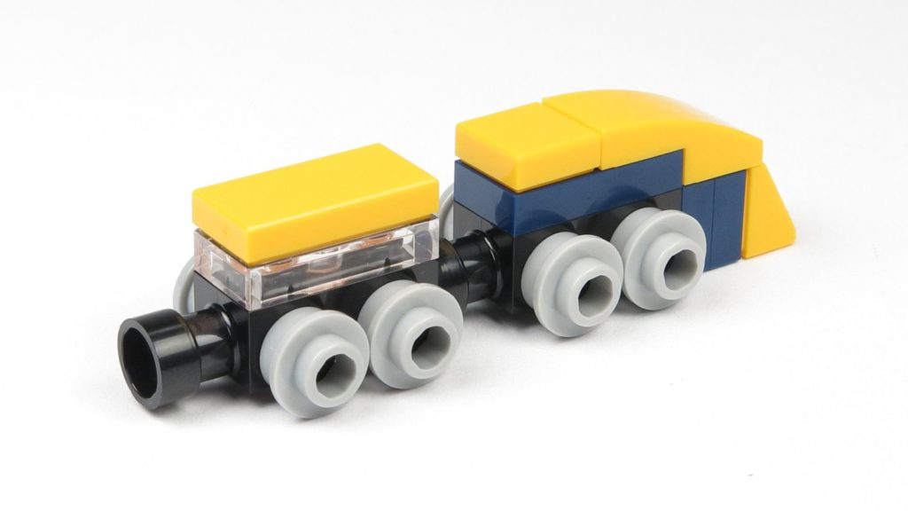 LEGO® City 60201 Adventskalender 2018 - Zug, hinten rechts | ©2018 Brickzeit