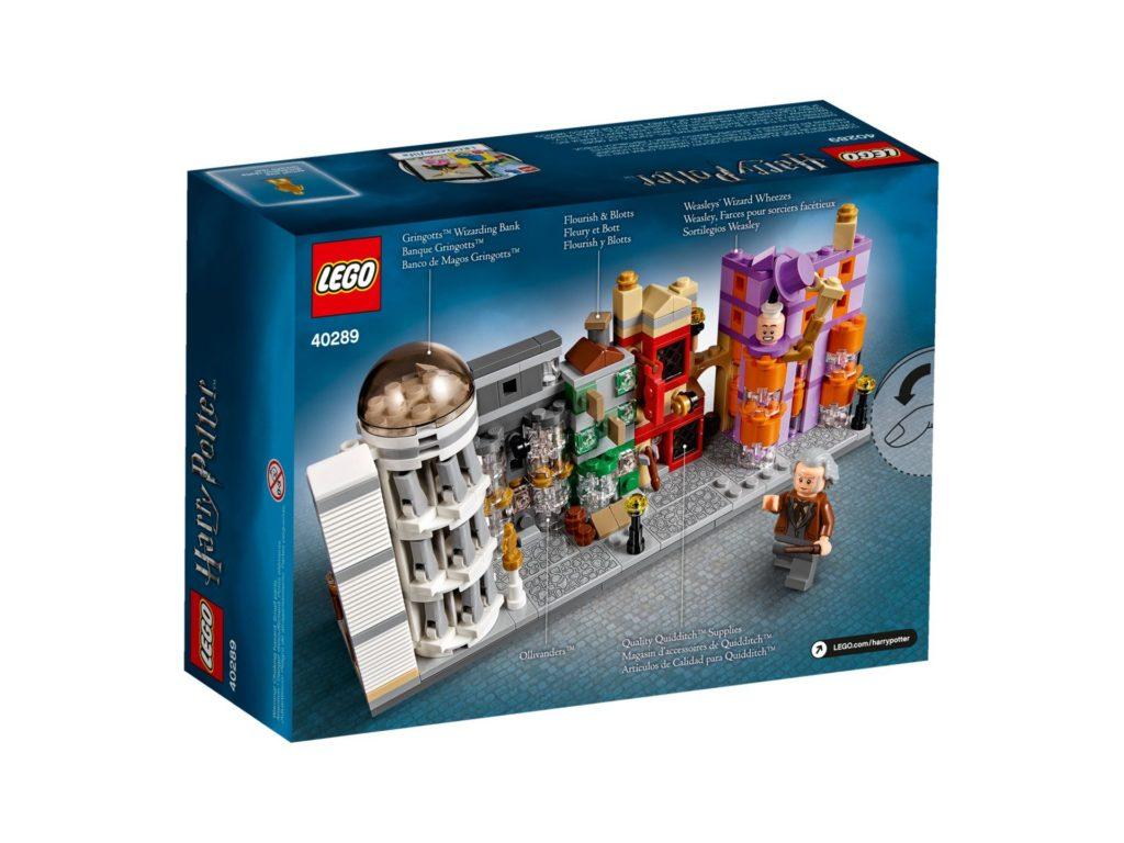 LEGO® Harry Potter 40289 Winkelgasse - Packung Rückseite | ©LEGO Gruppe
