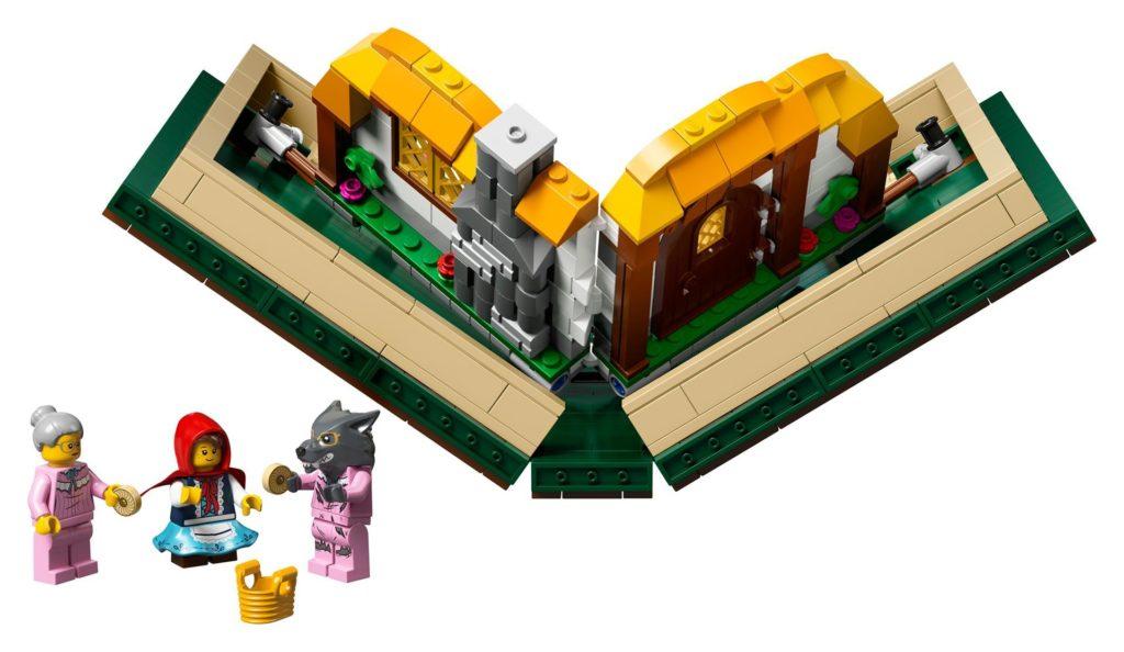 LEGO® Ideas 21315 Pop-Up-Buch - Geschichte von Rotkäppchen wird zusammengeklappt | ©LEGO Gruppe