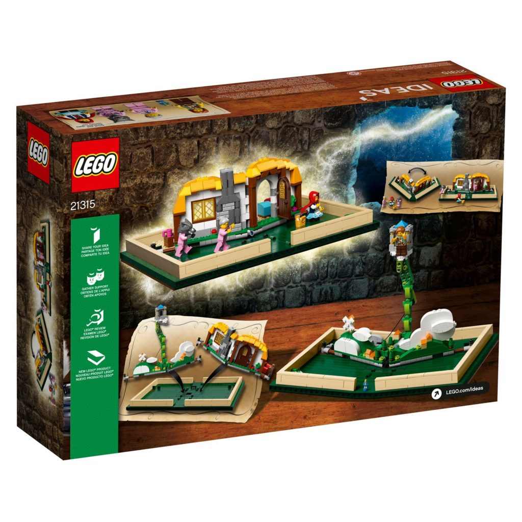 LEGO® Ideas 21315 Pop-Up-Buch - Packung Rückseite | ©LEGO Gruppe