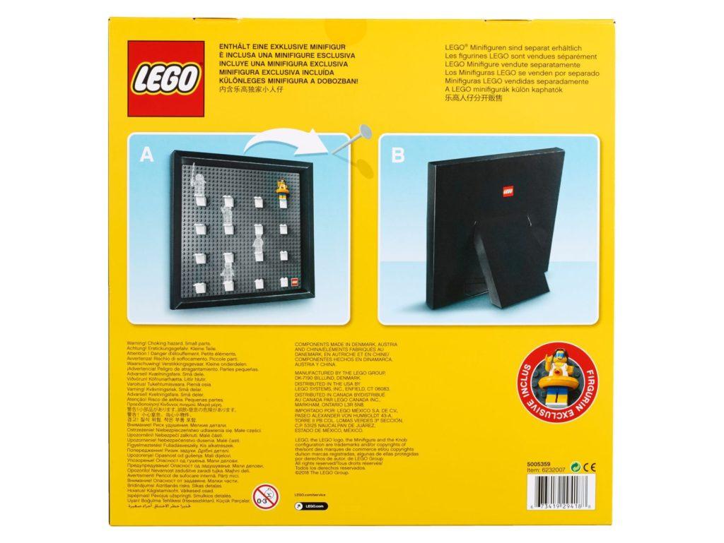 LEGO® Minifigur-Sammlerrahmen 5005359 - Packung, Rückseite | ©2018 LEGO Gruppe