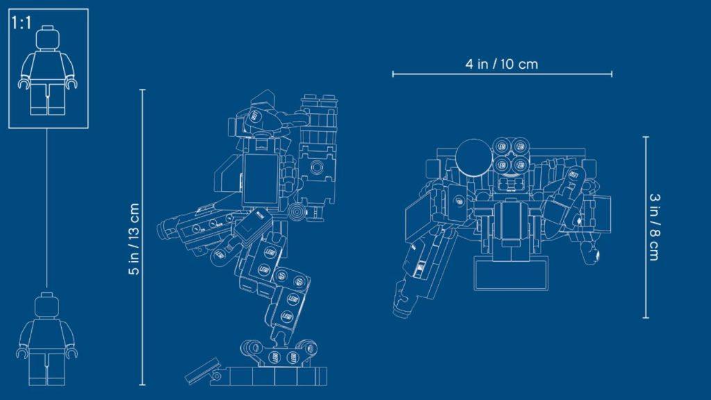 LEGO® Overwatch® 75987 Omnic Bastion - Blueprint | ©LEGO Gruppe