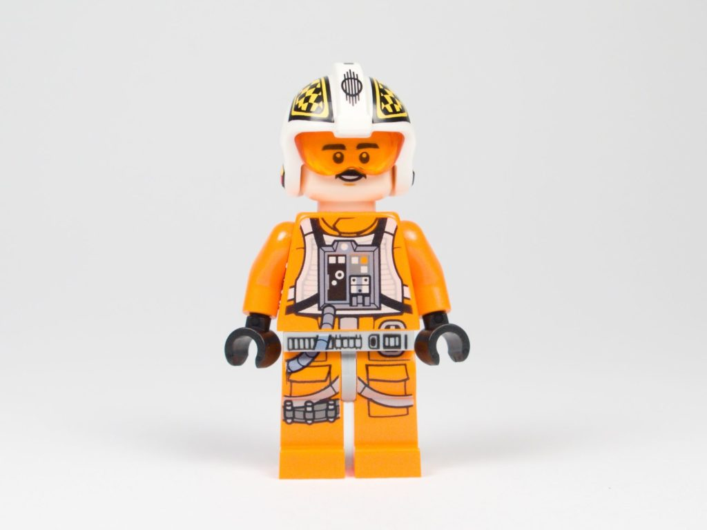 LEGO® Star Wars™ 75218 - Minifigur Biggs Darklighter - Vorderseite, Gesicht 1 | ©2018 Brickzeit