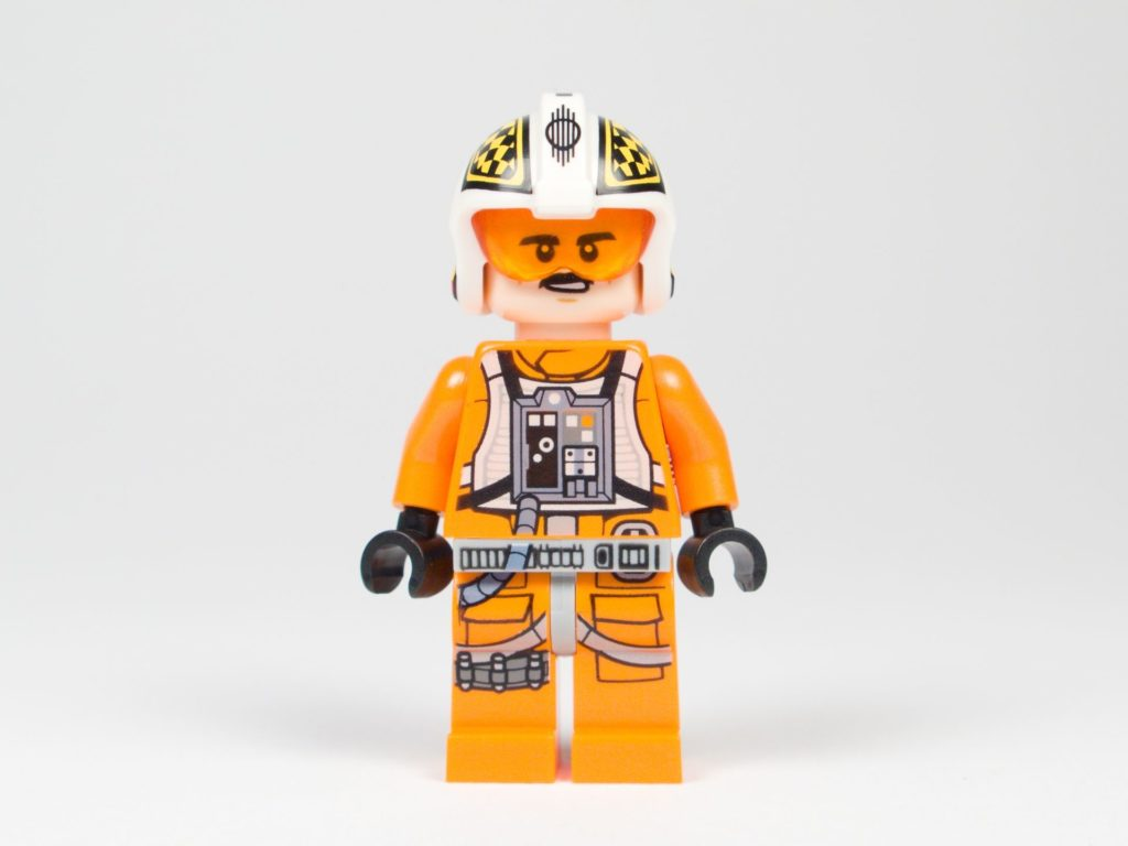 LEGO® Star Wars™ 75218 - Minifigur Biggs Darklighter - Vorderseite, Gesicht 2 | ©2018 Brickzeit