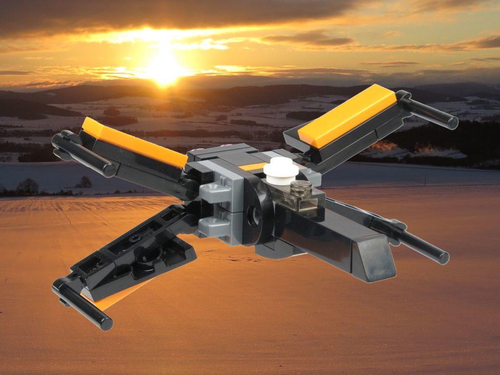 LEGO® Star Wars™ 911841 Poe Damerons X-Wing vor Sonnenuntergang | ©2018 Brickzeit