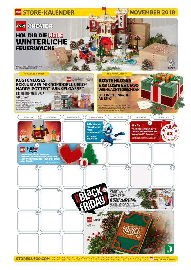 LEGO® Store-Kalender November 2018 | ©LEGO Gruppe
