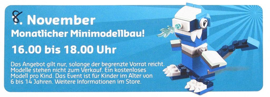 LEGO® Store-Kalender November 2018 - Minimodellbau | ©LEGO Gruppe