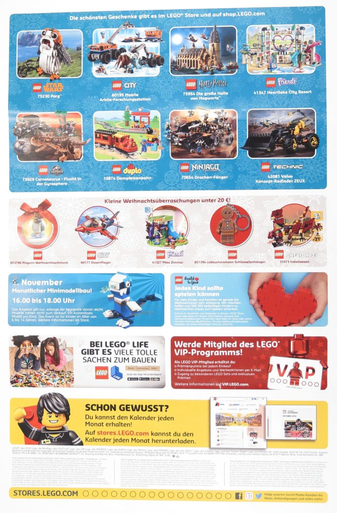 LEGO® Store-Kalender November 2018 - Seite 2 | ©LEGO Gruppe