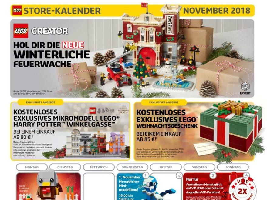 LEGO® Store-Kalender November 2018 - Titelbild | ©LEGO Gruppe