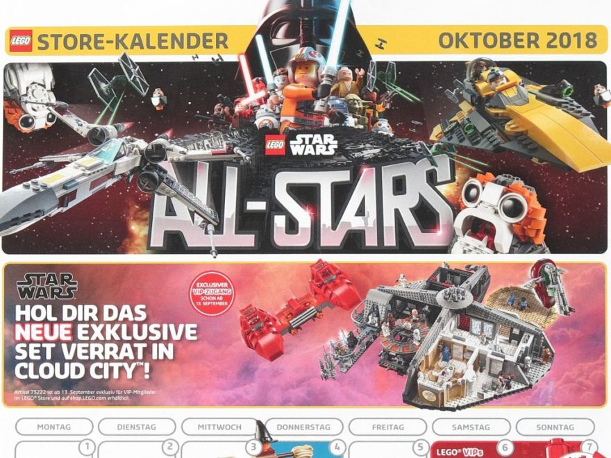 LEGO Store-Kalender Oktober 2018 - Titelbild | ©LEGO Gruppe