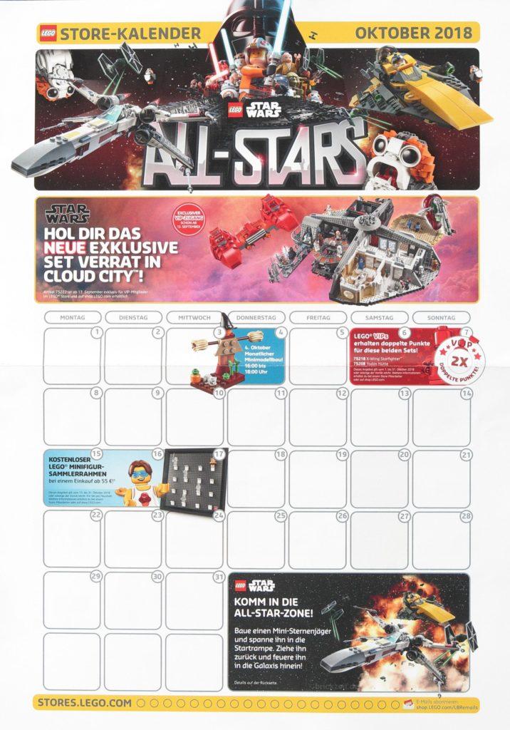 LEGO Store-Kalender Oktober 2018 - Vorderseite | Foto von Brickzeit
