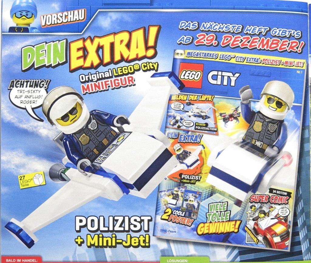 LEGO® City Magazin 11 Vorschau auf Ausgabe Dezember 2018 | ©2018 Brickzeit