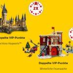 Doppelte LEGO VIP Punkte auf Schloss Hogwarts und Winterliche Feuerwache - Titelbild | ©LEGO Gruppe