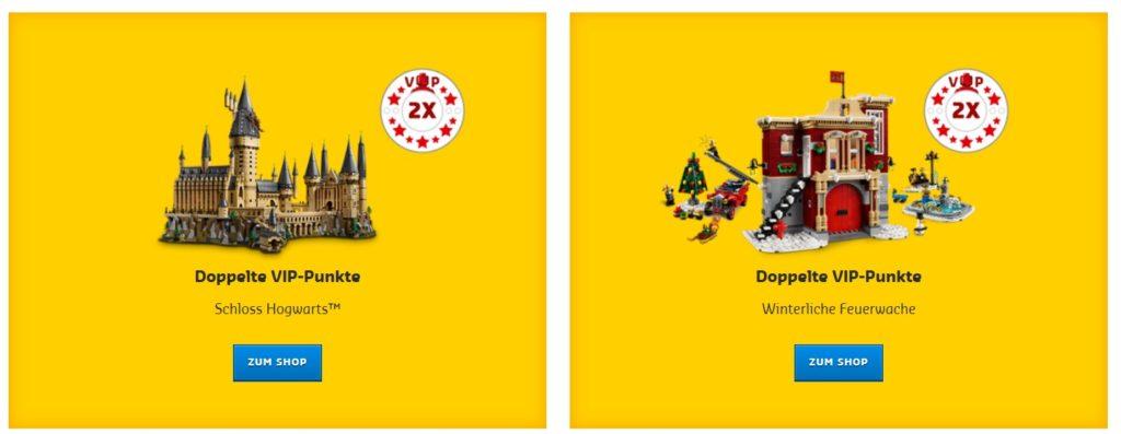 Doppelte LEGO VIP Punkte auf Schloss Hogwarts und Winterliche Feuerwache | ©LEGO Gruppe