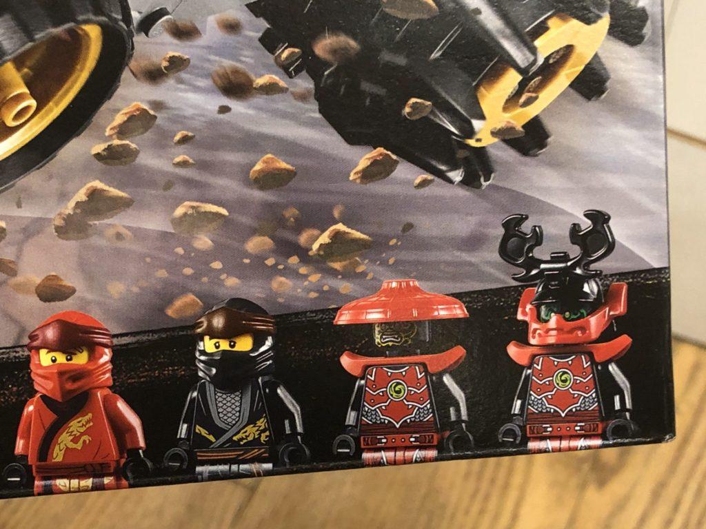 LEGO® Ninjago Legacy 70669 Cole's Earth Driller - Minifiguren auf der Packung | ©2018 Brickzeit