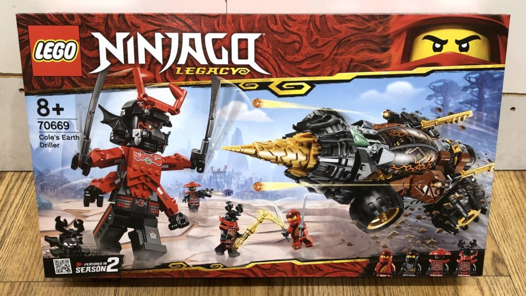 LEGO® Ninjago Legacy 70669 Cole's Earth Driller - Packung Vorderseite | ©2018 Brickzeit