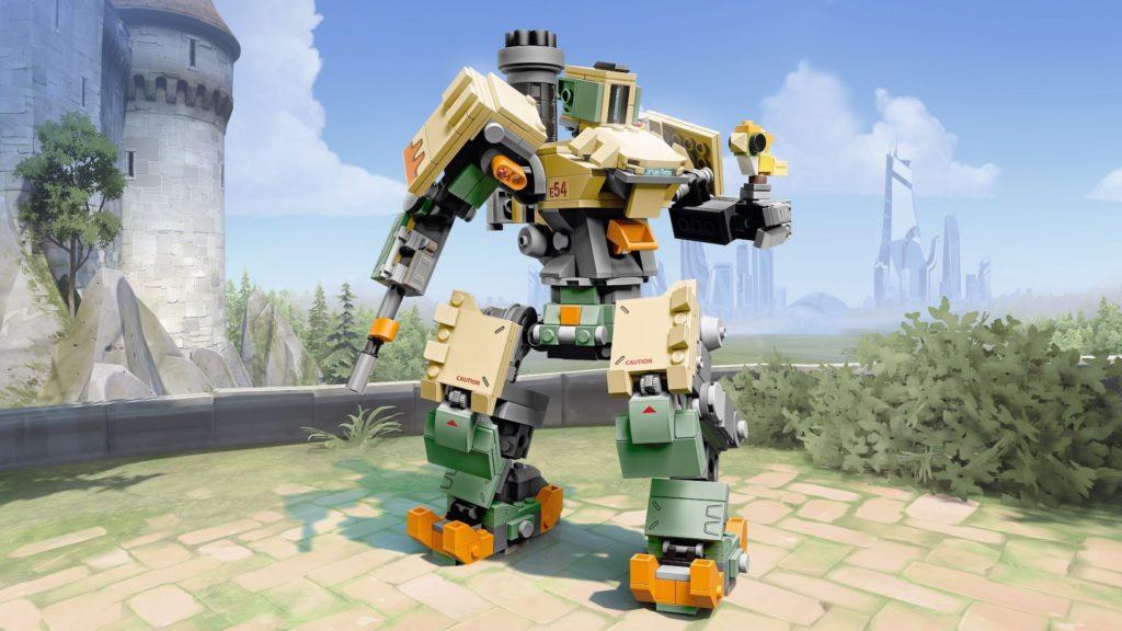 LEGO® Overwatch 75974 Bastion - Action mit Hintergrund | ©LEGO Gruppe