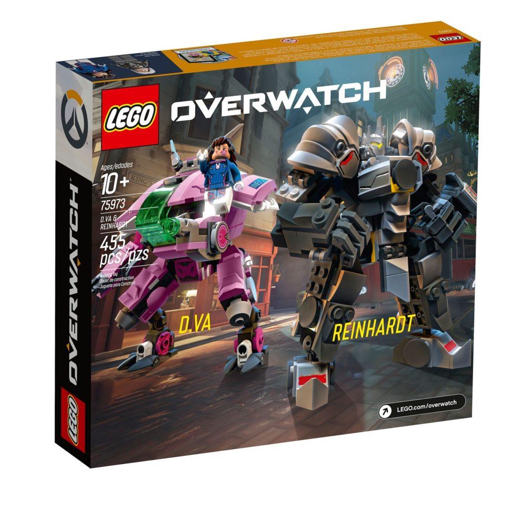 LEGO® Overwatch 75973 D.Va & Reinhardt - Packung Rückseite | ©LEGO Gruppe