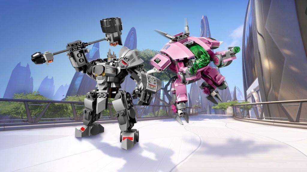 LEGO® Overwatch 75973 D.Va & Reinhardt - Action mit Hintergrund | ©LEGO Gruppe