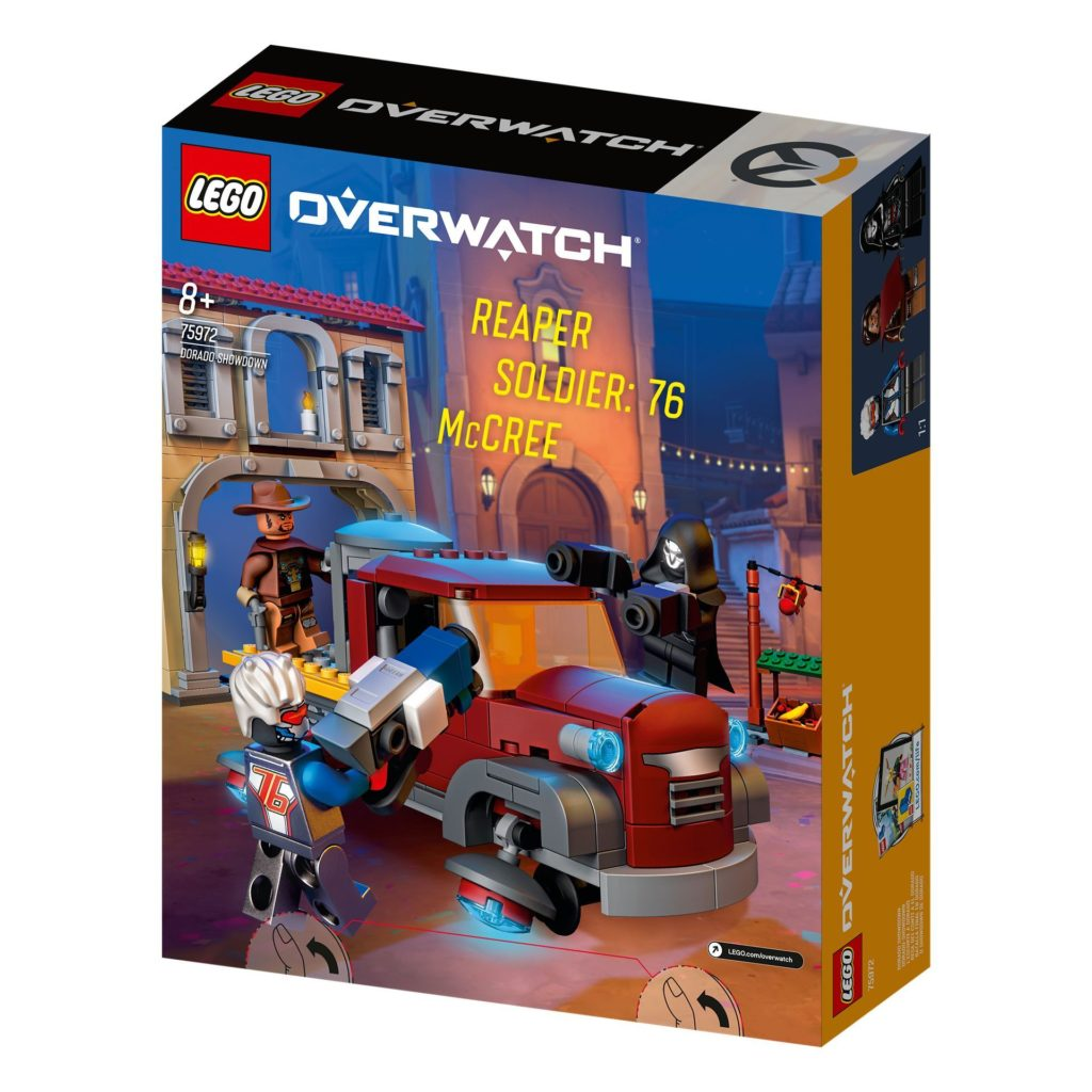 LEGO® Overwatch 75972 Dorado Showdown - Packung Rückseite | ©LEGO Gruppe