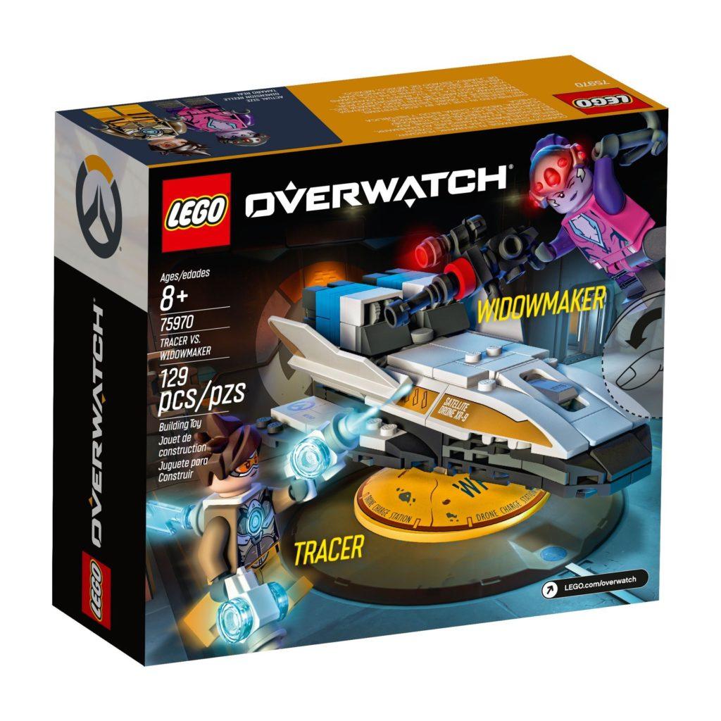LEGO® Overwatch 75970 Tracer vs. Widowmaker - Packung Rückseite | ©LEGO Gruppe