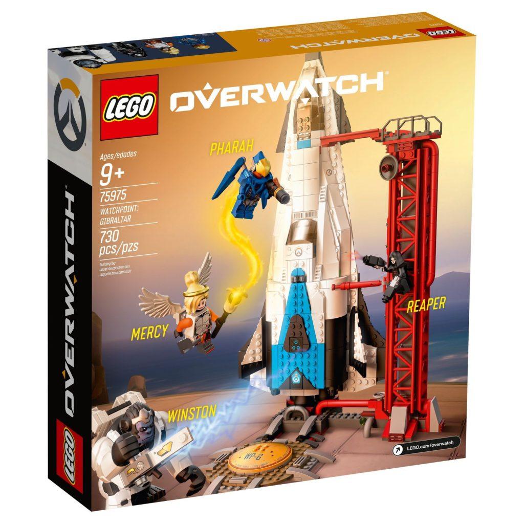LEGO® Overwatch 75975 Watchpoint: Gibraltar - Packung Rückseite | ©LEGO Gruppe