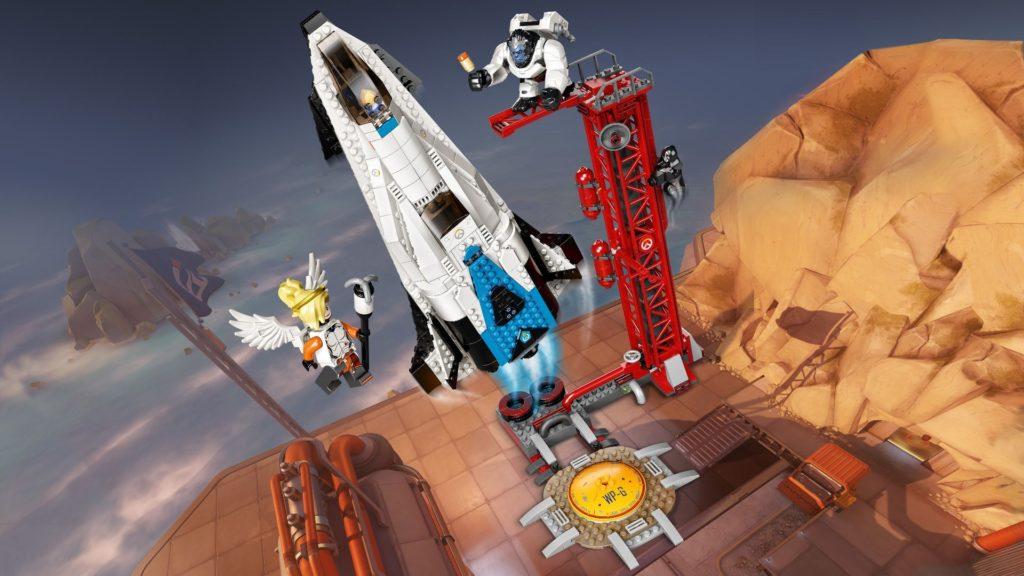LEGO® Overwatch 75975 Watchpoint: Gibraltar - Action mit Hintergrund | ©LEGO Gruppe