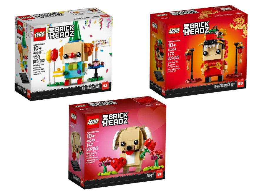 LEGO® Brickheadz 40348, 40349, 40354 - Titelbild | ©LEGO Gruppe
