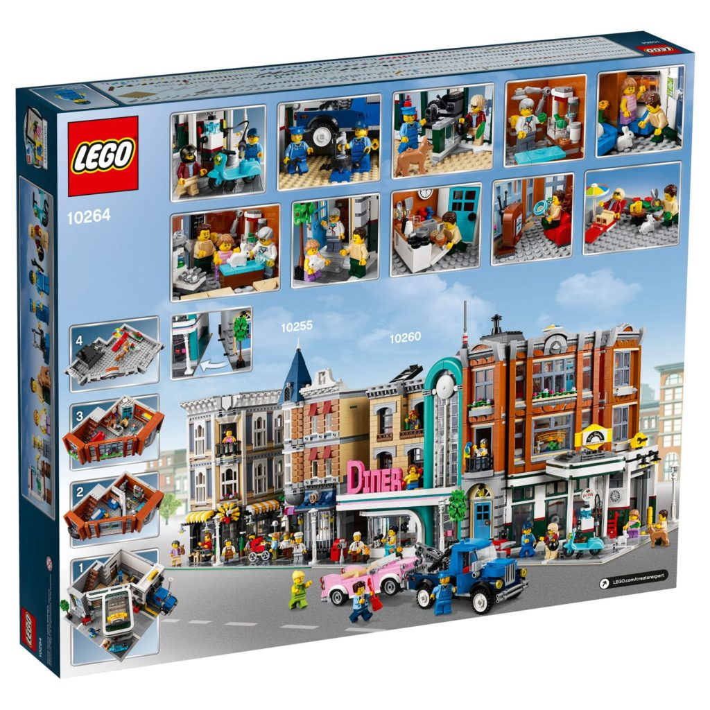 LEGO® Creator Expert 10264 Eckgarage - Packung Rückseite | LEGO© Gruppe