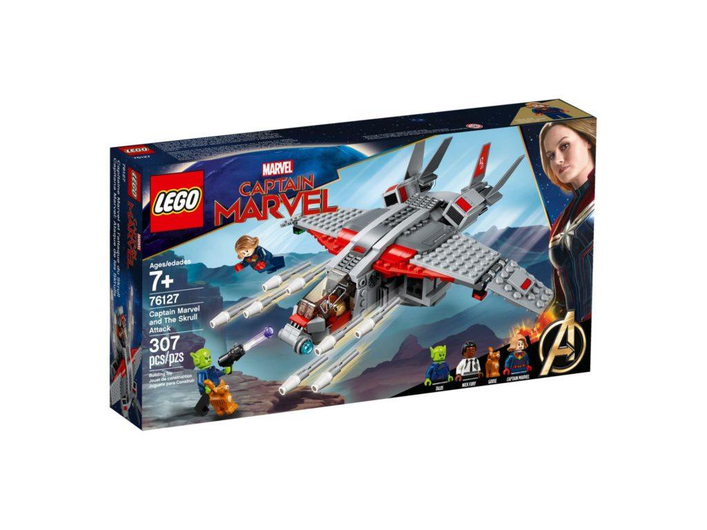 LEGO® Marvel Super Heroes 76127 Captain Marvel und die Skrull-Attacke - Packung Vorderseite | ©LEGO Gruppe