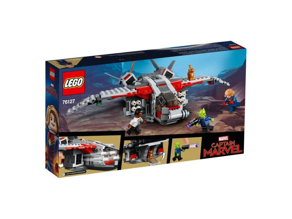 LEGO® Marvel Super Heroes 76127 Captain Marvel und die Skrull-Attacke - Packung Rückseite | ©LEGO Gruppe