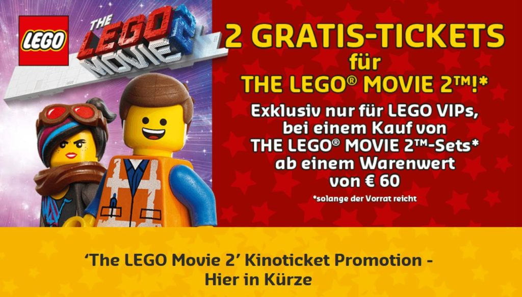 LEGO Movie 2 gratis Kinoticket Promotion | ©LEGO Gruppe