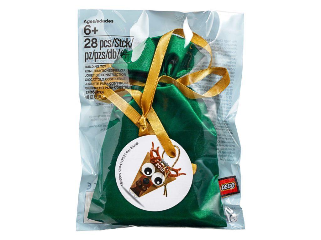 LEGO® Rentier Weihnachtsschmuck (5005253) - Polybag, Vorderseite | ©LEGO Gruppe
