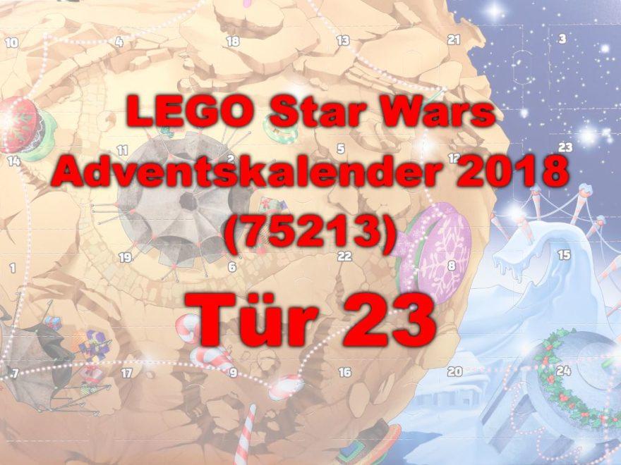 LEGO® Star Wars™ 75213 Adventskalender 2018 - Tür 23   ©Brickzeit