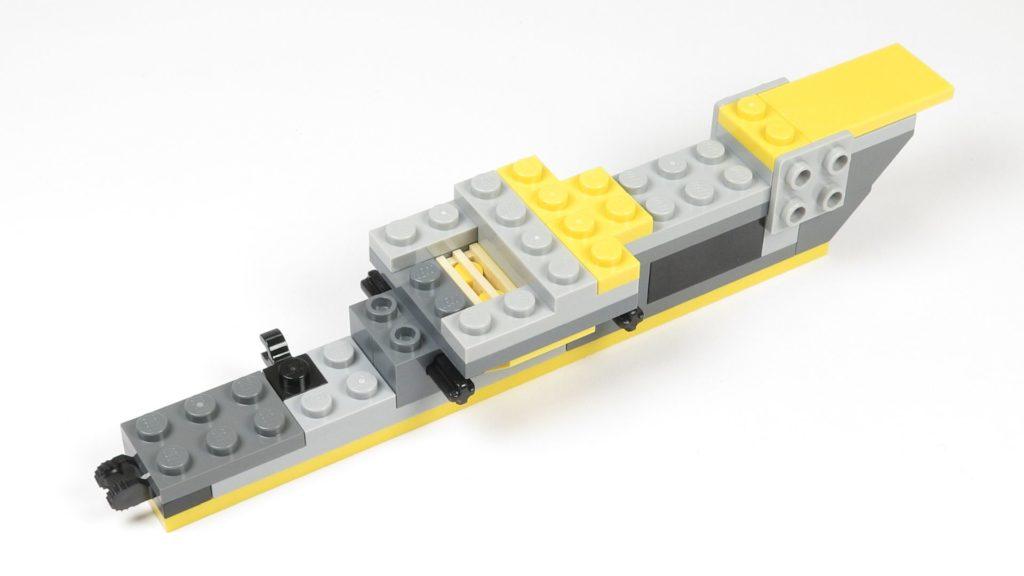 LEGO® Star Wars™ 75214 Bauabschnitt 1 - Rumpfteil 2, Platz für R2-D2 | ©2018 Brickzeit