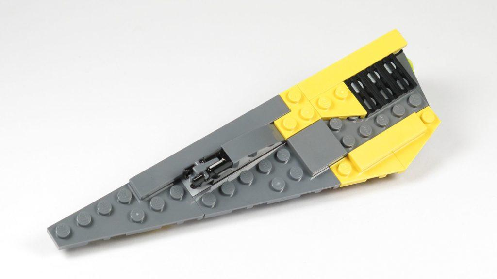 LEGO® Star Wars™ 75214 Bauabschnitt 3 - linker Flügel, Oberseite | ©2018 Brickzeit