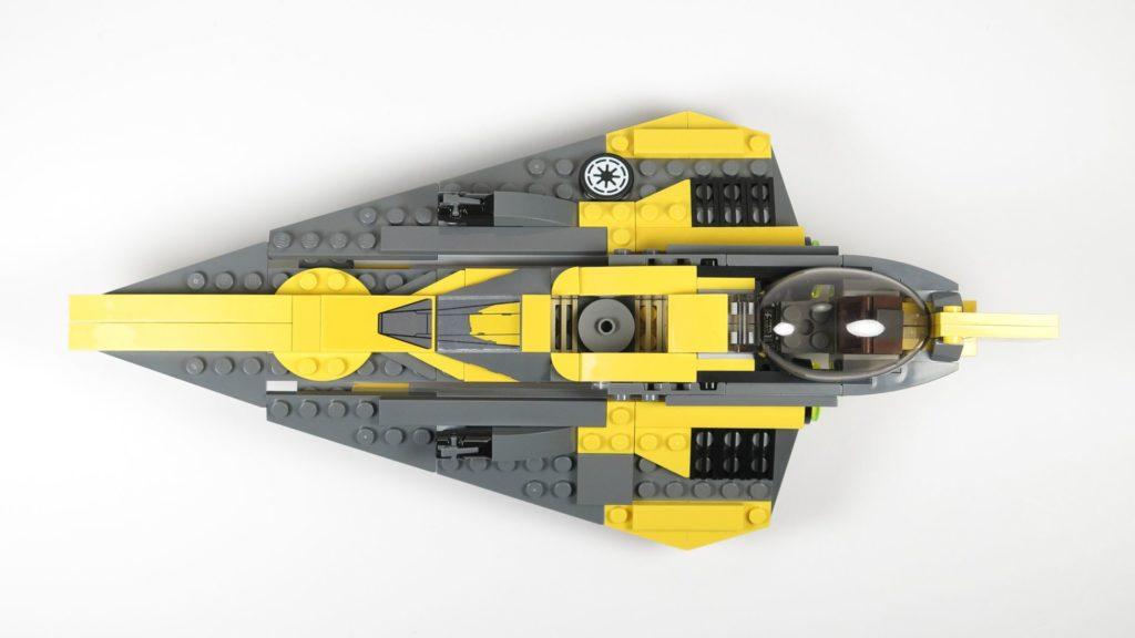 LEGO® Star Wars™ 75214 Anakins Jedi Starfighter - Draufsicht | ©2018 Brickzeit