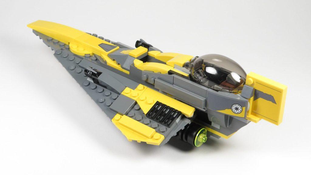 LEGO® Star Wars™ 75214 Anakins Jedi Starfighter - hinten, links | ©2018 Brickzeit