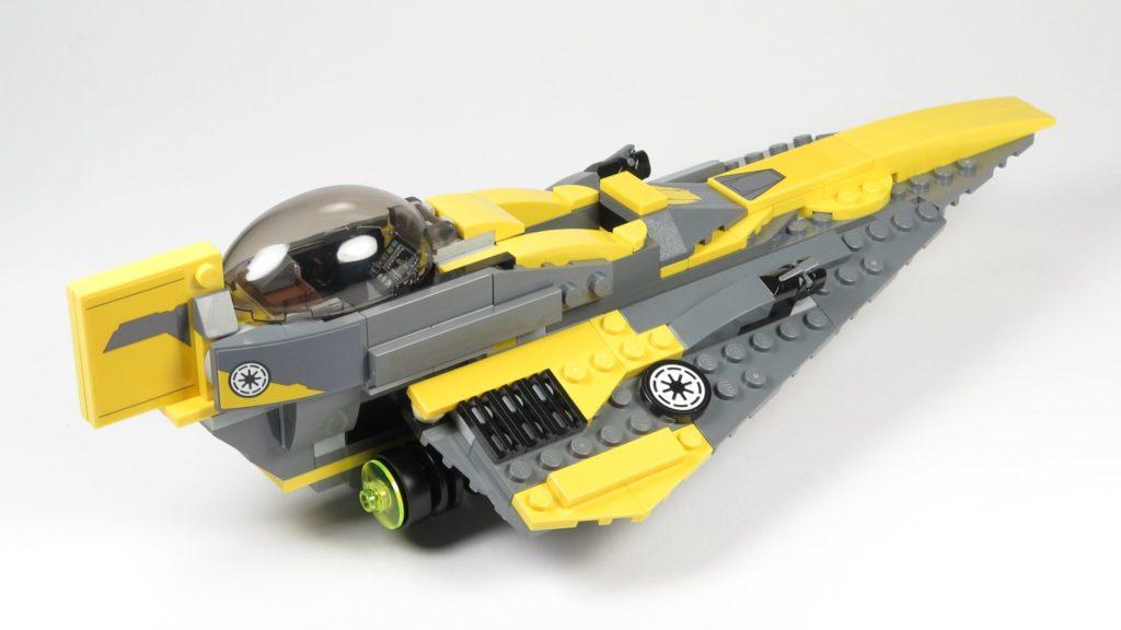 LEGO® Star Wars™ 75214 Anakins Jedi Starfighter - hinten, rechts | ©2018 Brickzeit
