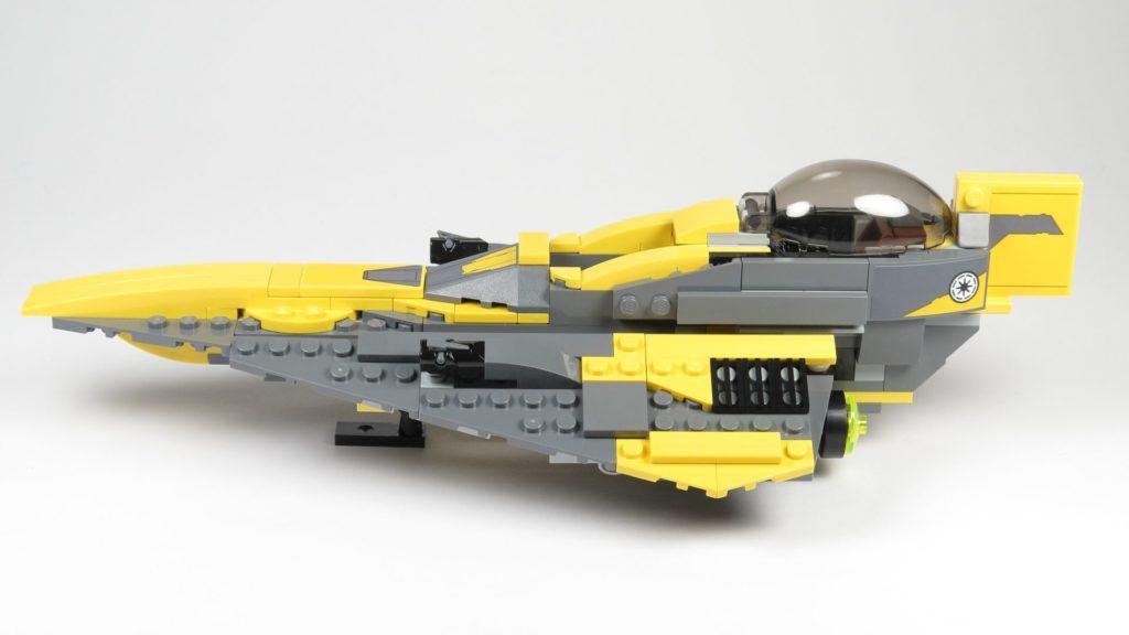 LEGO® Star Wars™ 75214 Anakins Jedi Starfighter - linke Seite | ©2018 Brickzeit