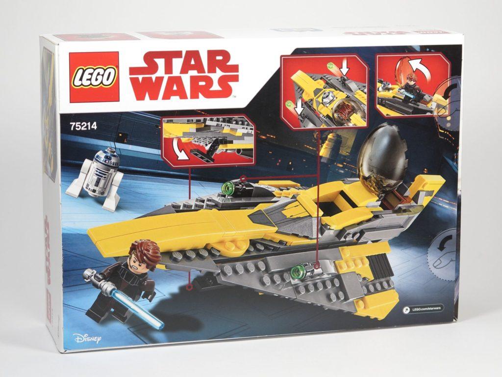 LEGO® Star Wars™ 75214 Anakins Jedi Starfighter - Packung, Rückseite | ©2018 Brickzeit