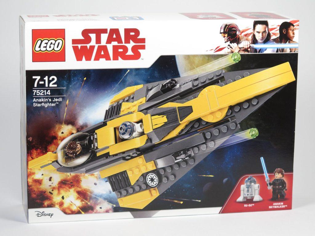 LEGO® Star Wars™ 75214 Anakins Jedi Starfighter - Packung, Vorderseite | ©2018 Brickzeit