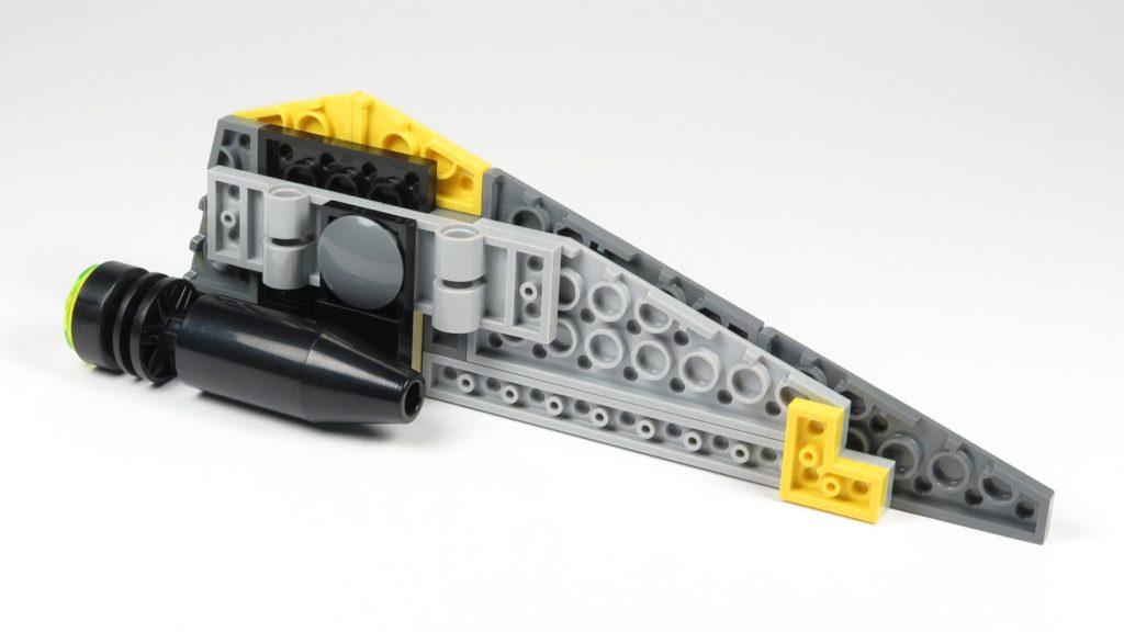 LEGO® Star Wars™ 75214 Bauabschnitt 2 - rechter Flügel, Unterseite | ©2018 Brickzeit
