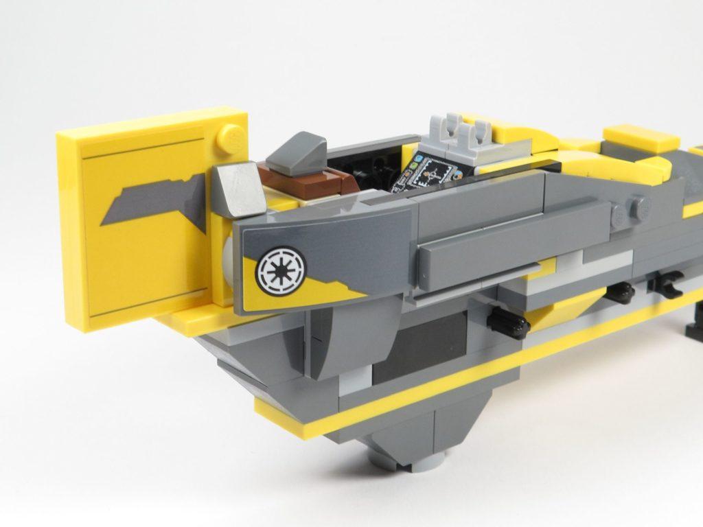 LEGO® Star Wars™ 75214 Bauabschnitt 2 - Heck, rechte Seite mit Seitenverkleidung | ©2018 Brickzeit