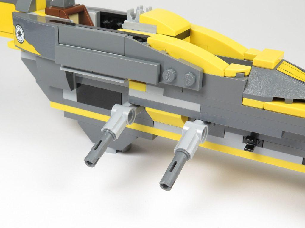 LEGO® Star Wars™ 75214 Bauabschnitt 2 - Technic Pins für Flügelbefestigung | ©2018 Brickzeit