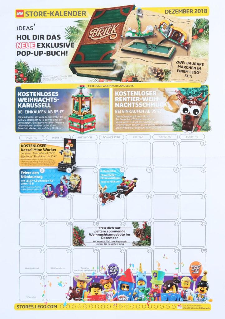 LEGO® Store-Kalender Dezember 2018 - Seite 1 | ©LEGO Gruppe