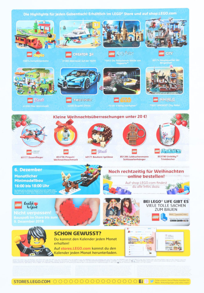 LEGO® Store-Kalender Dezember 2018 - Seite 2 | ©LEGO Gruppe